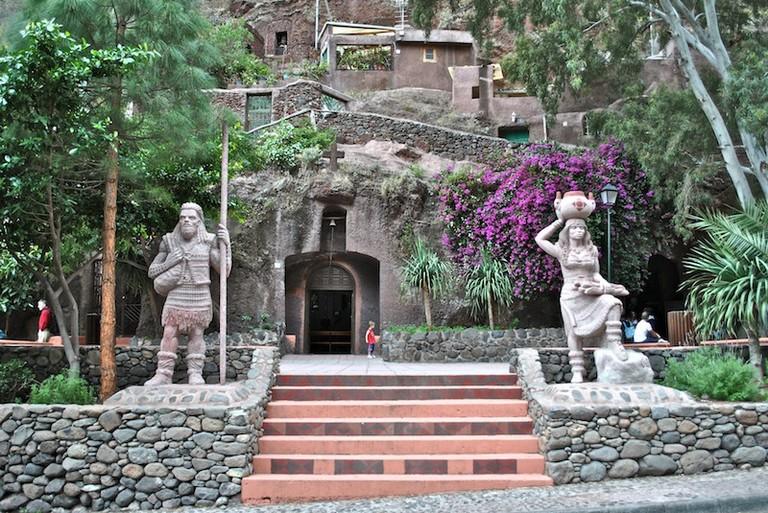 Cave Village Barranco de Guayadeque Gran Canaria